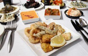 Fritura Malagueña, pescado frito